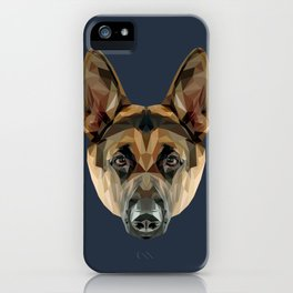 German Shepherd // Navy iPhone Case