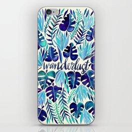 Tropical Wanderlust – Blue iPhone Skin