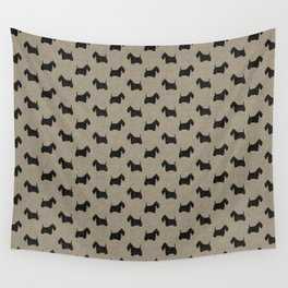 Scottish Terrier Scottie Silhouette Wall Tapestry