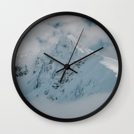 White peak - Landscape and Nature Photography Wall Clock