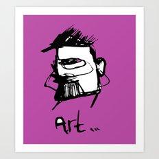 Art drawing Art Print