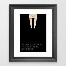 Men In Black Framed Art Print