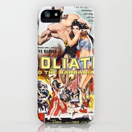 Vintage poster - Goliath and the Barbarians iPhone Case