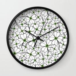 Line art - Clover Wall Clock