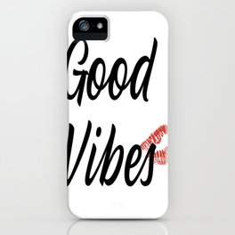 Good Vibes - Red Lips Palette iPhone Case