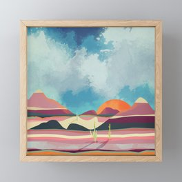 Pink Desert Glow Framed Mini Art Print