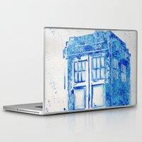 tardis Laptop & iPad Skins featuring TARDIS by Redeemed Ink by - Kagan Masters