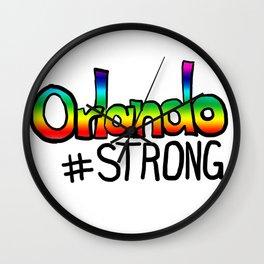 Orlando #strong Wall Clock