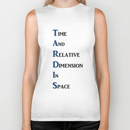 Tardis Doctor Who Time and Relative Dimension in Space Biker Tank