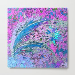 Palms Ferns and Flowers #5 Metal Print