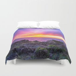California Dreaming - Brilliant Sunset in Big Sur Duvet Cover
