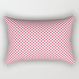 Teaberry Polka Dots Rectangular Pillow