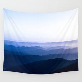 Layers Of Parallax Purple Mountains Lavender Violet ombre Gradient Landscape Minimalist Colorful Pho Wall Tapestry