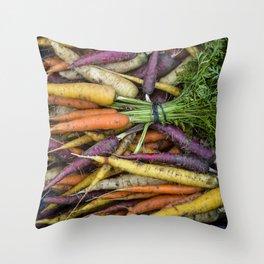 Fall/Winter Carrots Throw Pillow