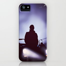 Vintage 80s car poster - the equalizer. iPhone Case