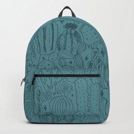 Cactus Scene in Blue Backpack