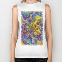 hippy Biker Tanks featuring Hippy 1 Psychedelic by BohemianBound