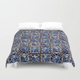 Blue Willow Tiles Duvet Cover