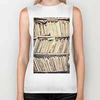 books Biker Tanks featuring books by PureVintageLove