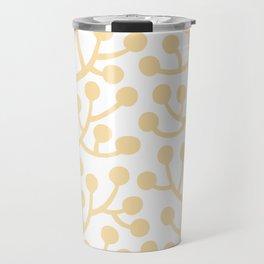 Beautiful Vine Pattern with Berries 733 Yellow Travel Mug