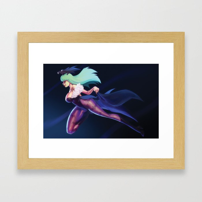Darkness Illusion Framed Art Print