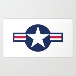 US Airforce style roundel star - High Quality image Art Print