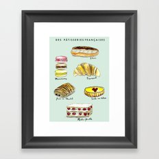 Des Patisseries Francais Framed Art Print