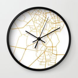 MARACAIBO VENEZUELA CITY STREET MAP ART Wall Clock