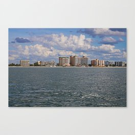 Fort Myers Beach from the Gulf Canvas Print
