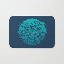 Aquatic Blues Bath Mat