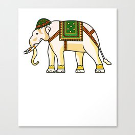 Watercolour Tribal Elephant Clothing Artwork Canvas Print