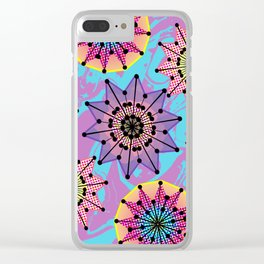 Vibrant Abstract Floral Pattern Clear iPhone Case