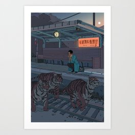 Tiger Station Art Print