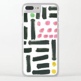 Pop Art Style Brushstroke Pattern Clear iPhone Case