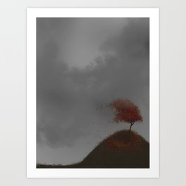 Standing Strong in a Fall Wind Art Print