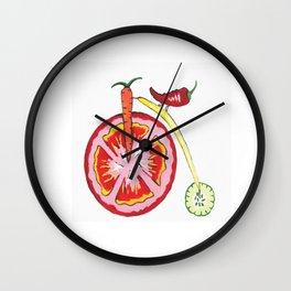 Veggie Bike Wall Clock