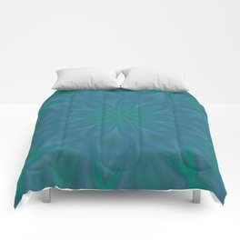 Aurora In Teal Blue and Green Comforters