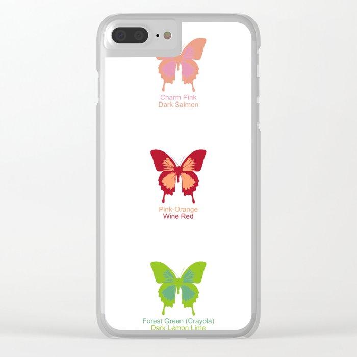 Butterflies 9 Clear iPhone Case
