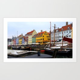 Nyhavn Copenhagen Denmark Art Print
