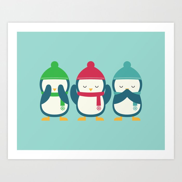 No Evil In Holiday Art Print