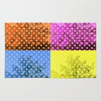 popart Area & Throw Rugs featuring Autum popart by healinglove by Healinglove art products