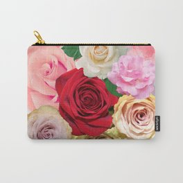 Rose Garden - Floral Spring Summer Roses Design Carry-All Pouch