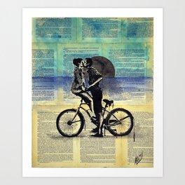 True blue love Art Print