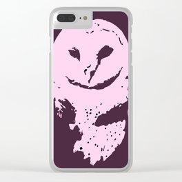 Barn Owl Tyto Alba Purple/Pink Clear iPhone Case