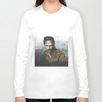 rick grimes Long Sleeve T-shirts featuring Walking Dead -Rick Grimes by NorthLight