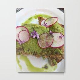 Avocado Toast Metal Print