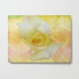 Painted Dream Rose Metal Print