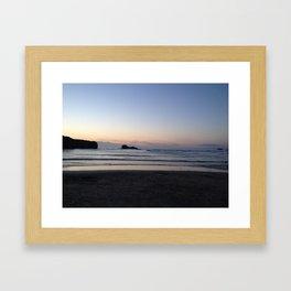 A Cornwall Sunset  Framed Art Print