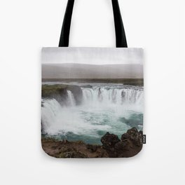 Godafoss waterfall in Iceland - nature landscape Tote Bag