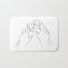 main dominante- Dominant hands print ,Holding Hands Bath Mat